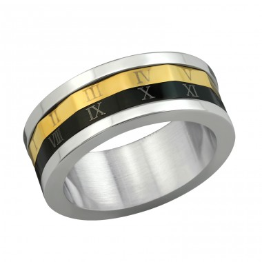 Band - 316L Surgical Grade Stainless Steel Steel Rings A4S7729