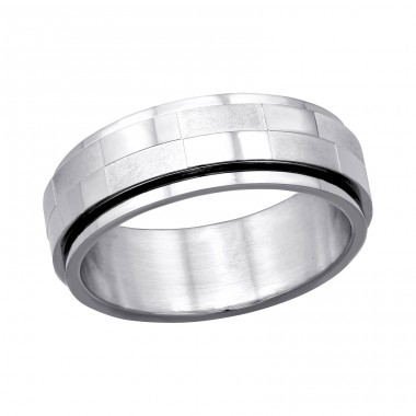 Band - 316L Surgical Grade Stainless Steel Steel Rings A4S7757