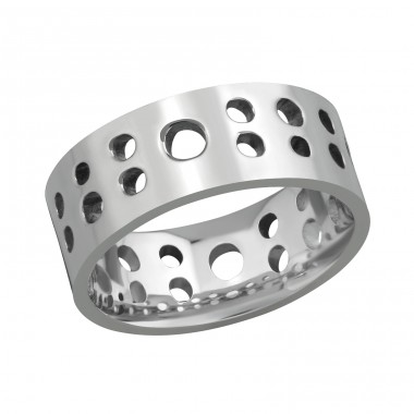 Band - 316L Surgical Grade Stainless Steel Steel Rings A4S9689