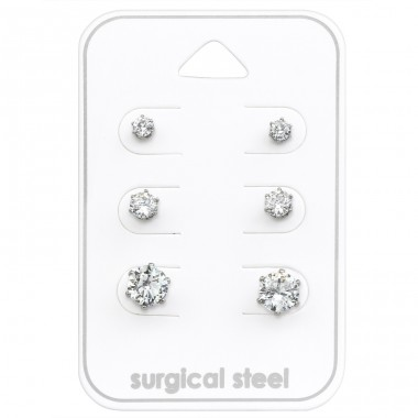 3Mm, 4mm And 6mm - 316L Surgical Grade Stainless Steel Steel Jewellery Sets A4S28498