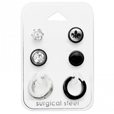 Mixed - 316L Surgical Grade Stainless Steel Steel Jewellery Sets A4S28509