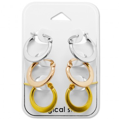 15mm - 316L Surgical Grade Stainless Steel Steel Jewellery Sets A4S28512