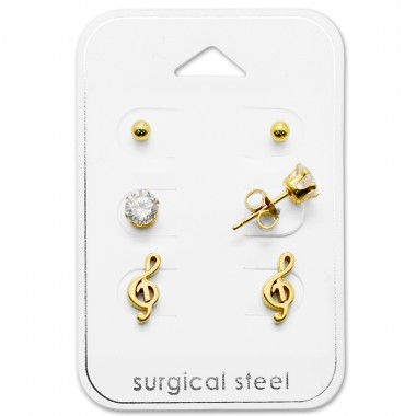 G-Clef - 316L Surgical Grade Stainless Steel Steel Jewellery Sets A4S28515