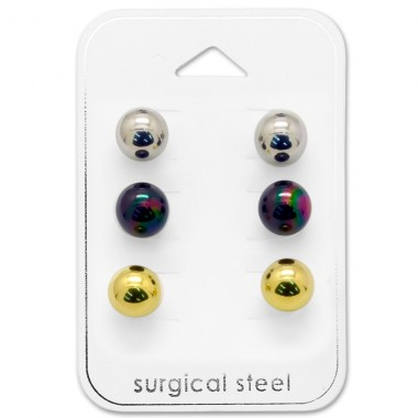 8mm Ball - 316L Surgical Grade Stainless Steel Steel Jewellery Sets A4S28528