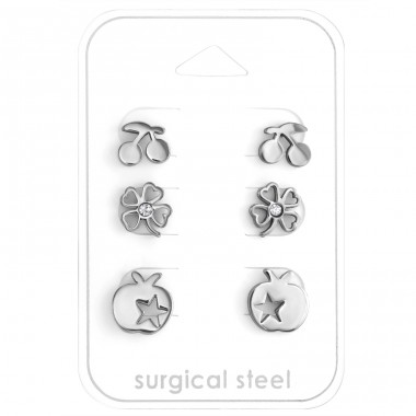 Mixed - 316L Surgical Grade Stainless Steel Steel Jewellery Sets A4S28561