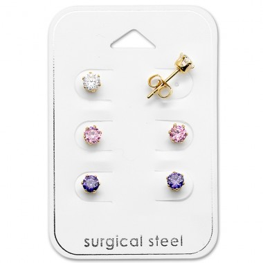Round - 316L Surgical Grade Stainless Steel Steel Jewellery Sets A4S29040