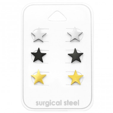 Star - 316L Surgical Grade Stainless Steel Steel Jewellery Sets A4S29050