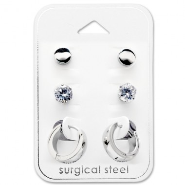 Round - 316L Surgical Grade Stainless Steel Steel Jewellery Sets A4S29051