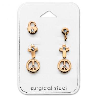 Mixed - 316L Surgical Grade Stainless Steel Steel Jewellery Sets A4S29057