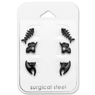 Animal - 316L Surgical Grade Stainless Steel Steel Jewellery Sets A4S29059