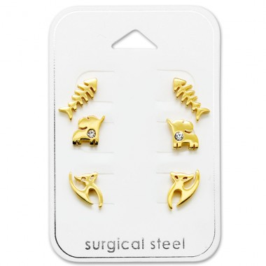 Animal - 316L Surgical Grade Stainless Steel Steel Jewellery Sets A4S29060