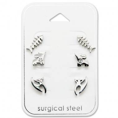 Animal - 316L Surgical Grade Stainless Steel Steel Jewellery Sets A4S29062