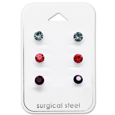 Round - 316L Surgical Grade Stainless Steel Steel Jewellery Sets A4S29088