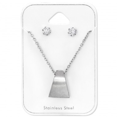Geometric - 316L Surgical Grade Stainless Steel Steel Jewellery Sets A4S30122
