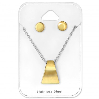 Gold Lovers - 316L Surgical Grade Stainless Steel Steel Jewellery Sets A4S30132