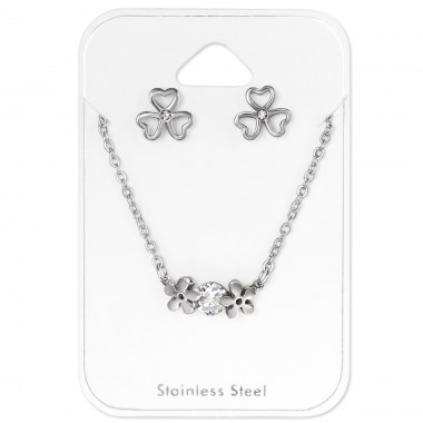 Nature - 316L Surgical Grade Stainless Steel Steel Jewellery Sets A4S30138