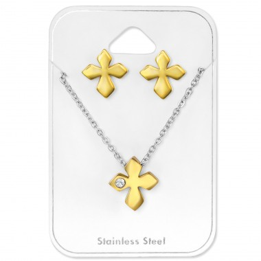 Cross - 316L Surgical Grade Stainless Steel Steel Jewellery Sets A4S30157