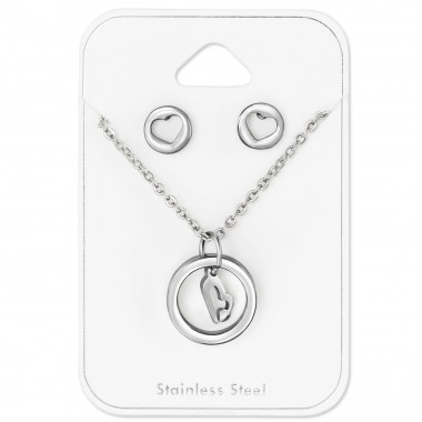 Valentine - 316L Surgical Grade Stainless Steel Steel Jewellery Sets A4S30161