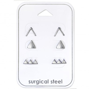 Geometric - 316L Surgical Grade Stainless Steel Steel Jewellery Sets A4S30725