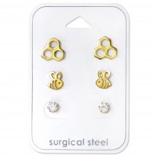 Bumble Bee - 316L Surgical Grade Stainless Steel Steel Jewellery Sets A4S30729