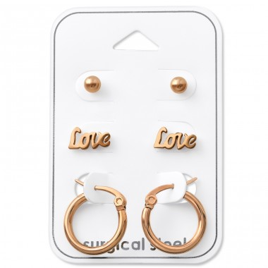 Love - 316L Surgical Grade Stainless Steel Steel Jewellery Sets A4S33360