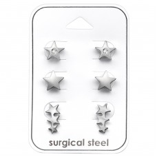 Star - 316L Surgical Grade Stainless Steel Steel Jewellery Sets A4S33364