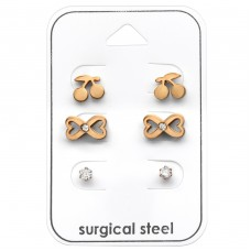 Lady - 316L Surgical Grade Stainless Steel Steel Jewellery Sets A4S33365