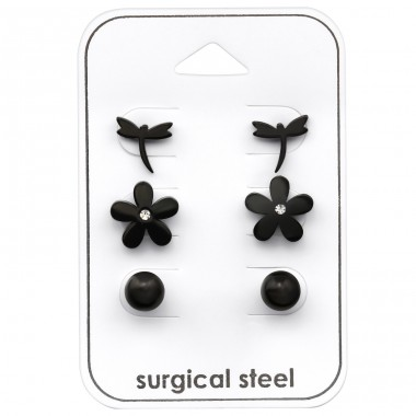 Flower - 316L Surgical Grade Stainless Steel Steel Jewellery Sets A4S33367