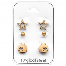 Star - 316L Surgical Grade Stainless Steel Steel Jewellery Sets A4S33368