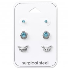 Nature - 316L Surgical Grade Stainless Steel Steel Jewellery Sets A4S33370