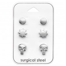 Skull - 316L Surgical Grade Stainless Steel Steel Jewellery Sets A4S33372