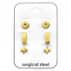 Basic - 316L Surgical Grade Stainless Steel Steel Jewellery Sets A4S33374