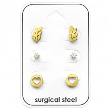 Love - 316L Surgical Grade Stainless Steel Steel Jewellery Sets A4S33376