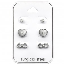 Infinity Love - 316L Surgical Grade Stainless Steel Steel Jewellery Sets A4S33377