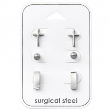 Cross - 316L Surgical Grade Stainless Steel Steel Jewellery Sets A4S33381