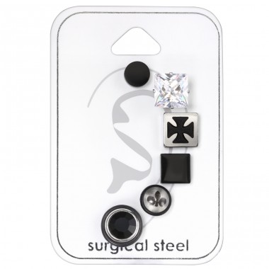 Unisex - 316L Surgical Grade Stainless Steel Steel Jewellery Sets A4S33443