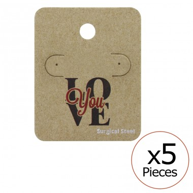 Love You Ear Stud Cards - Paper Steel Jewellery Sets A4S34095