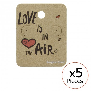 Love Is In The Air Ear Stud Cards - Paper Steel Jewellery Sets A4S34096
