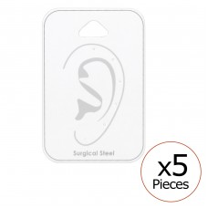 Card For 6 Pieces Ear Studs - Paper Steel Jewellery Sets A4S34098