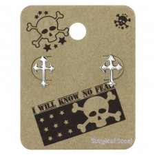 Gothic Cross - 316L Surgical Grade Stainless Steel Steel Jewellery Sets A4S34238