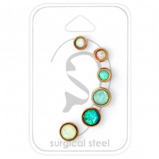 Opal - 316L Surgical Grade Stainless Steel Steel Jewellery Sets A4S34520