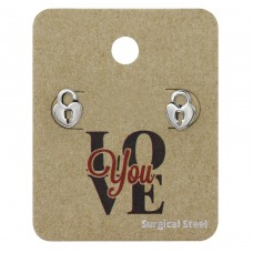 Heart Padlock - 316L Surgical Grade Stainless Steel Steel Jewellery Sets A4S34256