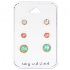Opal - 316L Surgical Grade Stainless Steel Steel Jewellery Sets A4S34513