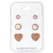 Heart - 316L Surgical Grade Stainless Steel Steel Jewellery Sets A4S34517
