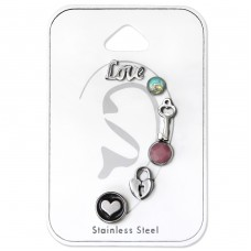 Mixed - 316L Surgical Grade Stainless Steel Steel Jewellery Sets A4S34518