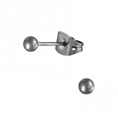 3mm Ball - Titanium Titan Ear Studs A4S33175