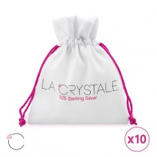 Bag with Swarovski® crystals - Suede Swarovski Silver Ear Studs A4S24088