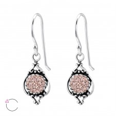 Marquise - 925 Sterling Silver Swarovski Silver Earrings A4S25010