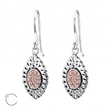 Marquise - 925 Sterling Silver Swarovski Silver Earrings A4S25011