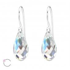 Teardrop - 925 Sterling Silver Swarovski Silver Earrings A4S29467